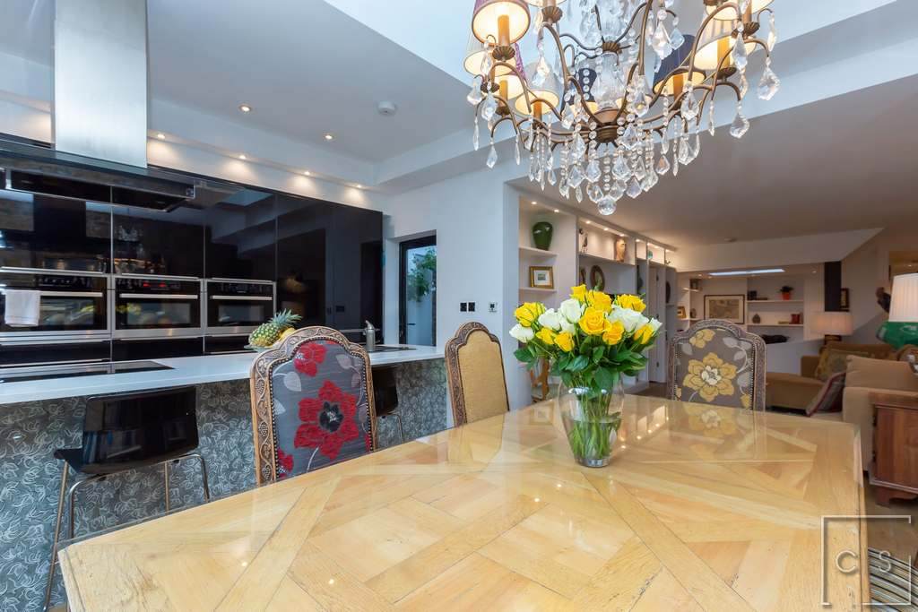 Interior Design Project London - Hampstead - Dining to Kitchen